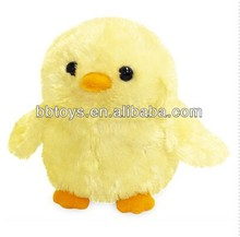 Factory directly plush toy chicken lays eggs soft material yellow chicken toys