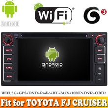 Pure android 4.4 system car dvd gps navigation fit for TOYOTA FJ CRUISER 2003-2007 WITH CHIPSET WIFI 3G INTERNET DVR OBD SUPPORT