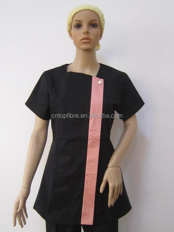 B10392 hair uniform for salon buy hair salon uniform for Spa uniform indonesia