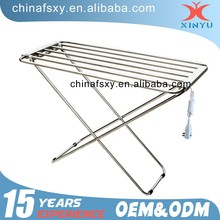 Stainless Steel Folded Electric Heated Clothes Airer For Balcony Clothes Drying