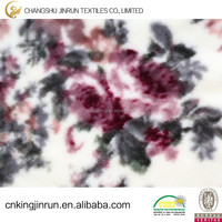 flower printed design 100% polyester flannel fleece blanket,beddding fabric,carton design,bathrobe