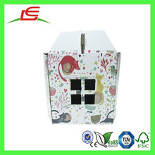 Q1410 Wholesale CMYK Printing Large Lovable Recycled Corrugated Paper Dog Carrier