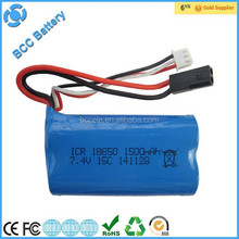 15C 1500mah 7.4v lithium ion battery pack for RC quadcopter helicopter