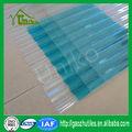 100% bayer makrolon uv bloqueio anti- gota de policarbonato ondulado folha de telhado