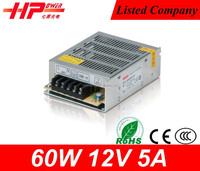 Guangzhou manufacturer hot selling high quality cctv camera switching power supply 60w 5 amperes 12v led driver module
