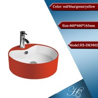 HS-9802 Colored above counter ceramic color toilet sink