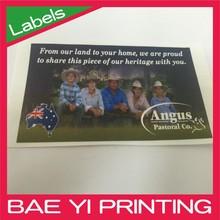 Person photo CMYK Flexo label printing machine label