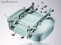 sanitary stainless steel square manhole cover for food grade