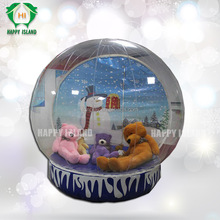 advertising inflatable globe with frozen cartoon,wedding snow globe, christmas inflatable snow globe tent