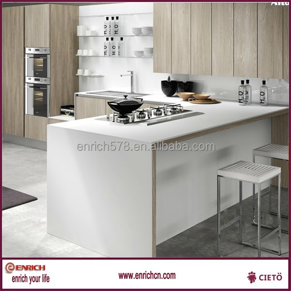 Cheap Melamine Modular Kitchen Cabinet Customized For