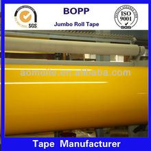 tan color bopp jumbo roll adhesive tape