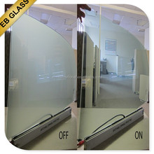 smart glass office partitions ,transparent switchable pdlc glass internet control/ knob switch control EB GLASS BRAND