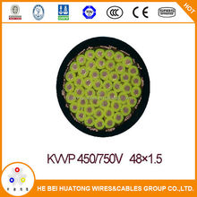 Best selling copper conductor PVC insulated PVC inner sheathed copper screened 1.5mm2 2.5mm2 control cable
