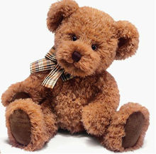 Soft Toys 35872 r114 Taubin very cute, soft and lovely brown Teddy Bear with cuddly brown plush and wears a chequered ribbon