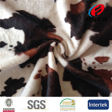 2015 HOT SELL A128 velboa Cow animal print faux fur fabric