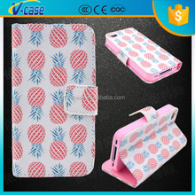 Sweet fruit pattern stand design flip leather case for nokia c7