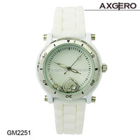 Fashion Silicone Watch Alloy Case Ladies Geneva Wrist Watch,Watches For Women Made in China