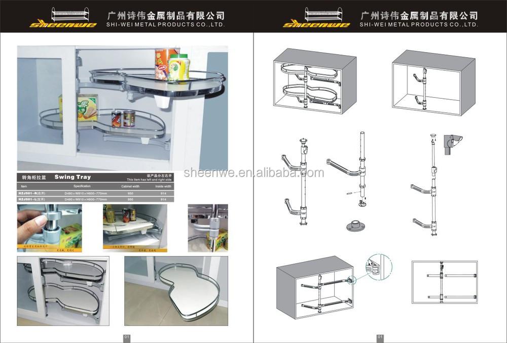 Fdl 900 fdr 900 guangzhou magic corner swing lade keukenkast uittrekbare mand softclosing - Keukenkast outs ...