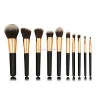 mask makeup brush color two tone synthetic hair brush set 10pcs cosmetic brush