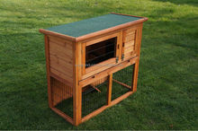 2-Story Animal Hutch With Enclosure