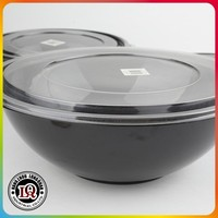Plastic Microwaveable Container with Black Base and Clear Dome Lid Combo