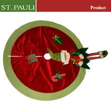 Customised size decoration for new year tree 48 inch diameter elf xmas tree skirt