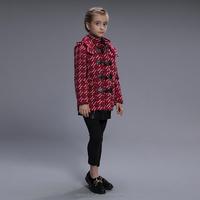 Wholesale kids boutique clothing girls children fashion winter jacket woolen coats