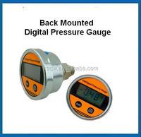 Battery supply back mounted Digital air pressure Gauge with lcd display