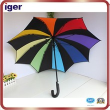 shangyu beauty star shape 24 inches crook handle sun and rain umbrella
