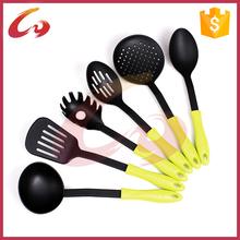 Fashional designed pp handle nylon kitchen tool set