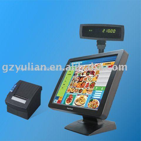 Mapletouch жк-поз сенсорный экран компьютера с термопринтер, задний дисплей/pos терминалы