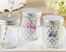 Personalized Printed Glass Mason Jar - Baby