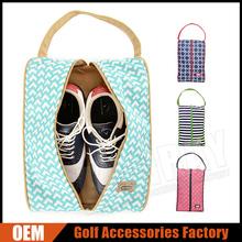 Women lightweight cotton golf shoe bag for ladies