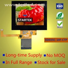 TFT Capacitive touch screen 3.5 inch graphic panel full viewing angle 320x240 in landscape