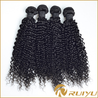 No tangle no shedding natural remy brazilian curly hair weaving pieces