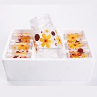 1.5L Glass Water Jug with 6 pcs 9OZ Glass Cups Set Drinking Water Glass Set glass water pitcher sets