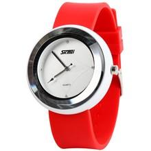 multicolors jelly durable silicone privilege discount slim quartz watches for lady