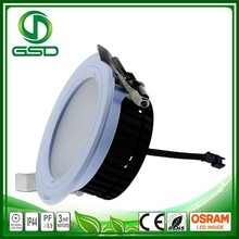 3 years warranty isolated driver warm white led downlight dimmable
