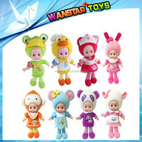 Wholesale Cute lovely Doll Toy cartoon speaker-fruit monkey/sheep/mouse/rooster/frog/panda/rabbit/cat doll