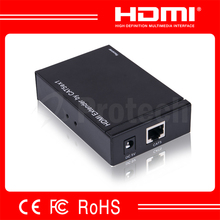 Factory Price 50m HDMI Extender by Cat5e Cat6 Cable Support 3D Mini HDMI Extender Fellow IEEE-568B Standard