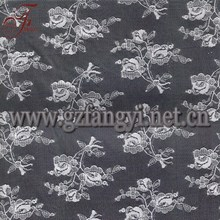 High Quality Fashionable White Nylon Sexy Beautiful Floral Lace Fabric For Wedding Gown