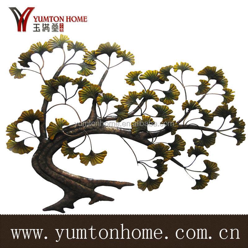 M tal scuplture d coration murale arbre vendre artisanat for Decoration murale arbre metal