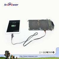 Ivopower Best price Fashional design solar charger mobile phones portabe mini 5W solar charger bag