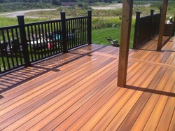 exotic strand woven bamboo flooring in outdoor