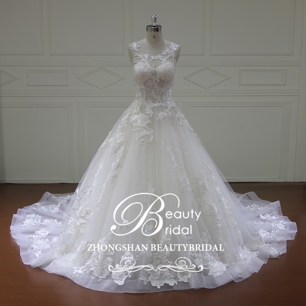 Xf16069 Different Types A Line Wedding Gown,Wedding Dress Chapel ...