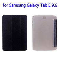 Fast Delivery with Clear Back Cover Leather Tablet Case for Samsung Galaxy Tab E 9.6 Cover