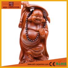 """Rosenholz buddha statue"""" maitreya mit lüfter in der Hand"""" handgemachte kunst Köpfen holz kunst kunstgewerbe"""