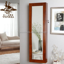China supplier wall mount jewelry armoire with mirrored jewelry armoire