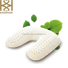 2015 Fashion Natural Latex Car Pillow U-shape Standard Size Pillow for Traval