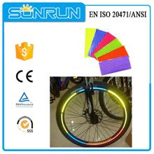 ingrosso colore misto adesivi riflettenti per ruote di bicicletta